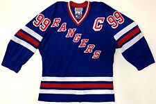 WAYNE GRETZKY NEW YORK RANGERS AUTHENTIC STARTER ON ICE HOME BLUE JERSEY 46 RARE