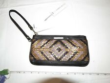 O'Neill womens juniors Wristlet bag Shimmer black brown MUL NWT 44497003^^