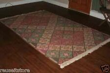 8x5 Area Rug Wool Green Brown Tan Brick Red Carpet Multi-Color Craftsman Style