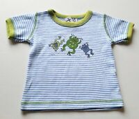 Boys MIS-TEE-V-US boutique frog t shirt 12-18 months NWT cotton striped top