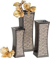 Brown Durable Resin Flower Vase Dublin Decorative Set For Living Room Kitchen