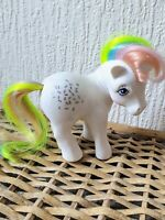 Vintage My Little Pony MLP G1 Confetti Rainbow UK Or Euro 1983 White Very Rare