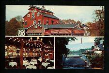 New Jersey NJ postcard Spring Lake Heights Old Mill Inn restaurant interior