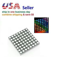 8x8 RGB Full-Color LED Matrix Super Bright Screen Display Module for Arduino