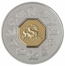 Canada 2000 $15 Year of the Dragon Sterling Silver Coin Proof RCM Velvet Box COA