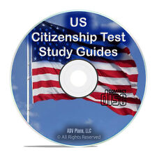 American US Citizenship Test, Naturalization, Study Guide, Civics Reading CD G80