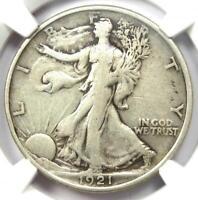 1921 Walking Liberty Half Dollar 50C 1921-P. NGC VF20 - Rare Date - $1,000 Value