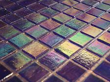 1 qm - Glasmosaik Fliesen Mosaik PERLMUTT EFFEKT blau bad dusche pool - blau