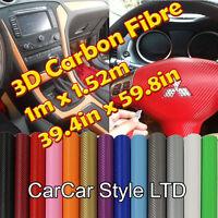 【1 Meter  X 1520MM】ALL COLOUR 【Bubble Free】 Carbon Fibre Vinyl Wrap 3D Textured