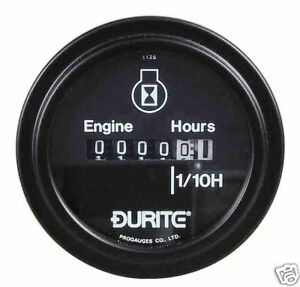 BRAND NEW PLANT DIGGER ENGINE HOUR COUNTER  GAUGE 10-86 VOLT DURITE NEW
