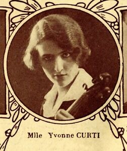 FRENCH VIOLINIST YVONNE CURTI PATHÉ RECORDS CD