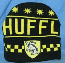 New Hufflepuff Knit Winter Cap Harry Potter Black Yellow