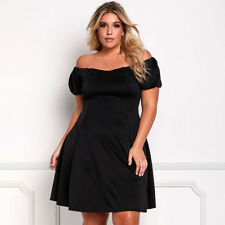 Sexy Women Dress Cocktail Plus Midi Size Skirt Casual Off Shoulder Fashion Big