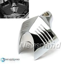 Chrome V-shield Horn Cover For Harley Softail Dyna Big Twin Evo Twin Cam 88 96
