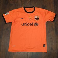 FC BARCELONA NIKE Dri-Fit Orange 2009 Champions D'Europa Jersey Med/Lg
