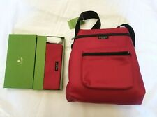 NWT Kate Spade Deep Red Padded Nylon Small Backpack + Matching Remy Wallet Set