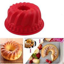 Ring Silicone Bakeware Mould Chiffon Cake Pan Bread Pastry Tin Baking Mold Tool
