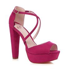 Faith Pink Daniella High Sandals UK 6 EUR 39 Em31 85