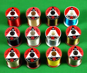 UTC Trout  Fly Tying THREAD 70  Denier (8/0) Lot  12 spools  Color  Selection