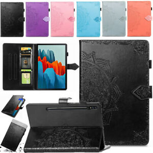 For Samsung Galaxy Tab S7 plus 12.4 11.0 Smart Leather Folio Stand Cover Case