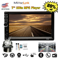 7inch 1080P 2Din Touch Screen Car Stereo MP5 AM Radio Mirror Link USB/TF+Camera