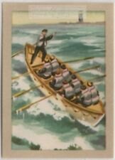 Why Sea Rescue Work Is A Dangerous Occupation Vintage Ad Trade Card