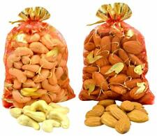 Whole Almonds with Cashew Nuts in Decorative Pouch Pack Gift Pack Dry Fruit Nuts