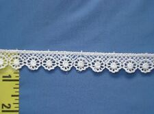 "Scalloped Venice Lace Trim Edging Rayon Venice Lace Trim 5/8"" White 5 yds #W158"