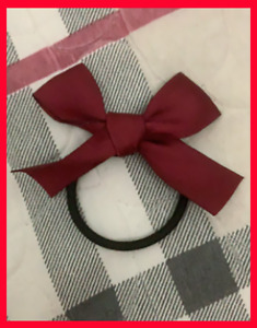 Red fabric bow hair band, black hair band for women