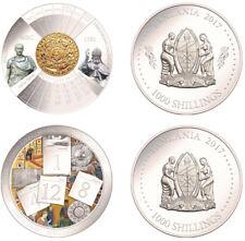 NEW!!! Tanzania Set 2 coins 2017  .999 Silver Evolution of the calendar