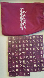 96 wooden SCRABBLE letter tiles from SCRABBLE DELUXE version
