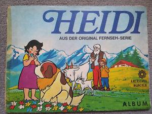 Americana München Heidi sticker album 1978, all stickers complete