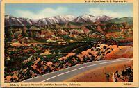 Vtg 1930's Cajon Pass, US Highway 66, Victorville California CA Postcard