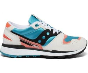 MENS SAUCONY AZURA WHITE/CORAL ATHLETIC CASUAL SNEAKERS STYLE # S70437-38