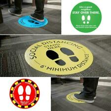 6ft SOCIAL DISTANCE Circle Floor Stickers Removable Vinyl Decals I3R1