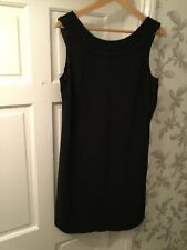 Monsoon Womens Black Evening Dress Size 16 Embroidered Collar RRP £135 New