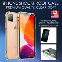 Shockproof Case For iPhone 11 Pro Max SE XR Bumper Clear Soft TPU Thin Cover