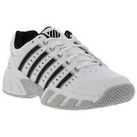 K-swiss Bigshot Light Ltr Leather Mens White Tennis Shoes Trainers Size UK 7-14