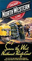Chicago Northwestern CNW Railroad 400 passenger train Advertising Poster
