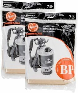 14pk Genuine Hoover C2401 Backpack Vacuum Paper Bags Part 401000BP