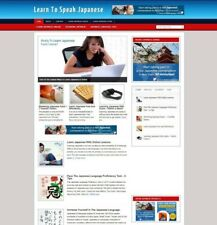 LEARN JAPANESE WEBSITE / BLOG WITH UK AFFILIATE STORE + HOSTING & NEW DOMAIN