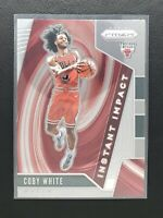 2019-20 Prizm Basketball Coby White RC, Rookie Instant Impact, Bulls