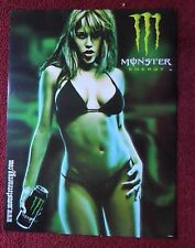 Sexy Girl Dorm Poster ~ Monster Energy Drink ZOMBIE in a Black Swimsuit Bikini