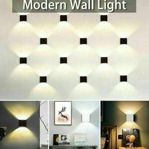 Modern LED Up Down Wall Light Lighting   Fixture Cube   Sconce Lamps Indoor
