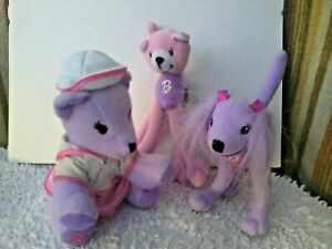 Barbie Pose Me Pets Fashion Kitty & Puppy ( McDonalds toys) & soft toy (lot of 3