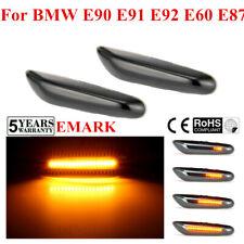 Dynamic LED Side Marker Smoked Turn Signal Light For BMW E90 E91 E92 E60 E87 lc
