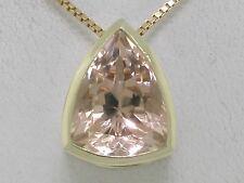 Morganit Anhänger 585 Gelbgold 14Kt Gold natürlicher Morganit