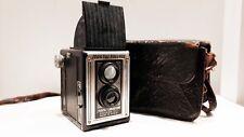 Vintage SPARTUS FULL VUE Chicago 120 film camera with case Art Deco
