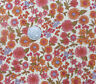 "Vintage 1970's !00% Cotton Fabric Floral Print 2 Yards + 6 1/2 Inches 45"" Wide C"