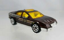 Matchbox Police Car Fire Department Chief Maroon - HTF